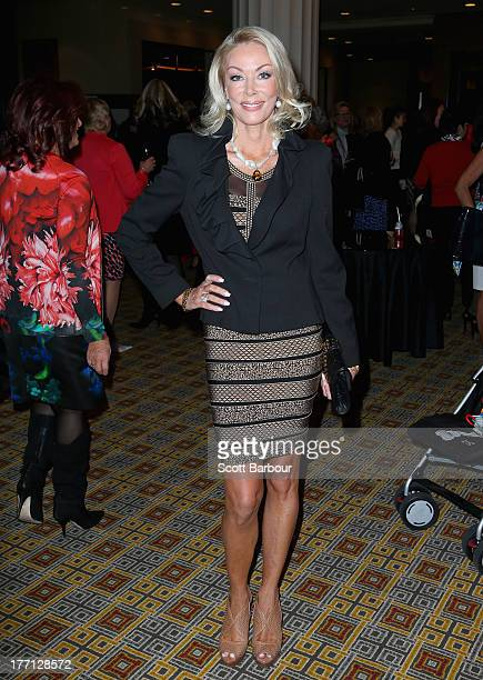 Janet Roach from The Real Housewives of Melbourne arrives at the Wella Professionals Royal Children's Hospital Spring Fashion Preview 2013 at the...