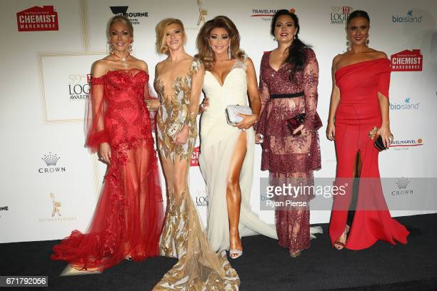 Janet Roach Gamble Breaux Gina Liano Lydia Schiavello and Jackie Gillies arrive at the 59th Annual Logie Awards at Crown Palladium on April 23 2017...