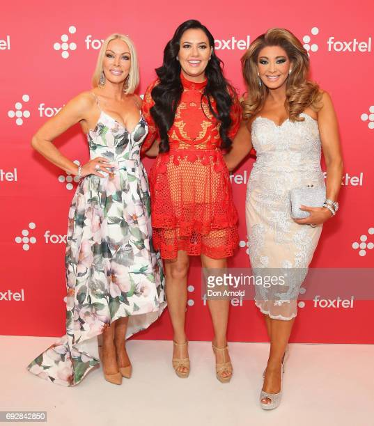 Janet Roach Lydia Schiavello and Gina Liano pose during a Foxtel Event at Hordern Pavilion on June 6 2017 in Sydney Australia