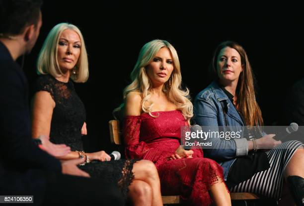 Janet RoachMelissa Tkautz and Kylie Washington take part in a panel discussion'Real Housewives' at the Video Junkee 2017 on July 29 2017 in Sydney...