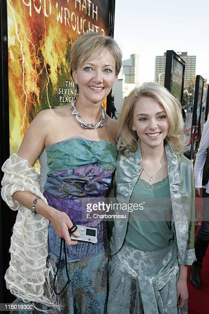 Janet Robb and AnnaSophia Robb during Warner Bros Pictures Presents the Los Angeles Premiere of The Reaping at Mann Village Theater in Westwood...