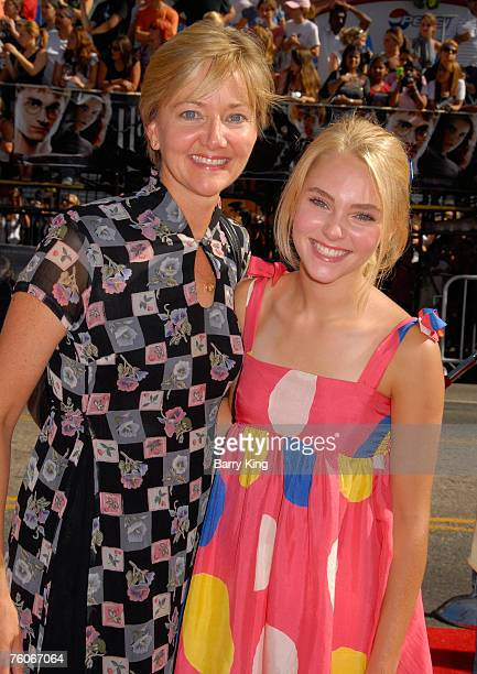 Janet Robb and daughter actress AnnaSophia Robb arrive at the Harry Potter and The Order of the Phoenix premiere held at Grauman's Chinese Theatre on...