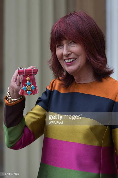 Janet Street Porter after receiving her Commander of the Order of the British Empire for service to her industry at Buckingham Palace on October 25...