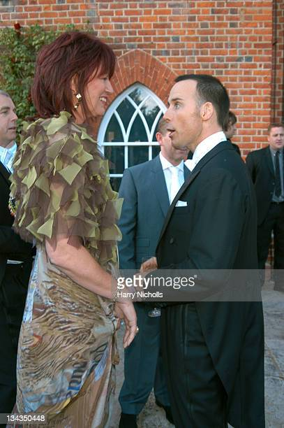 Janet Street Porter and David Furnish during The 6th Annual White Tie Tiara Ball to Benefit the Elton John Aids Foundation in association with...