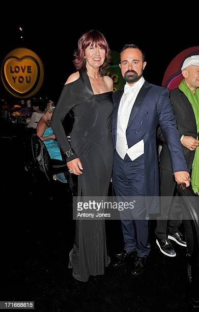Janet Street Porter and Evgeny Lebedev attend the 15th Annual White Tie and Tiara Ball to Benefit Elton John AIDS Foundation in Association with...