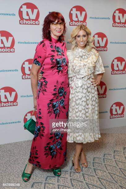 Janet Street Porter and Stacey Solomon arrive for the TV Choice Awards at The Dorchester on September 4 2017 in London England
