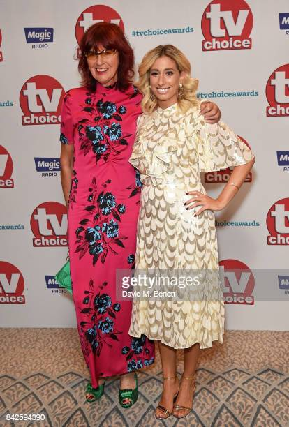 Janet Street Porter and Stacey Solomon attend the TV Choice Awards at The Dorchester on September 4 2017 in London England