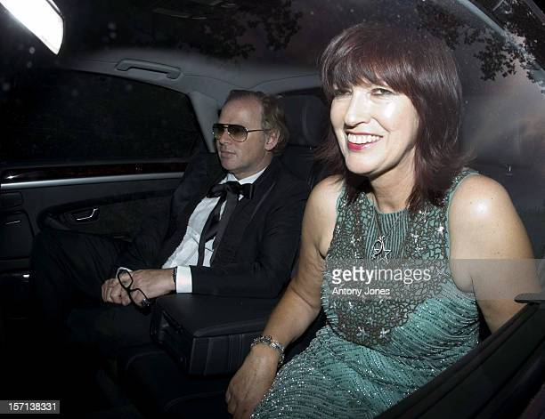 Janet Street Porter Attends The White Tie Tiara Ball Hosted By Elton John At His Home In Windsor