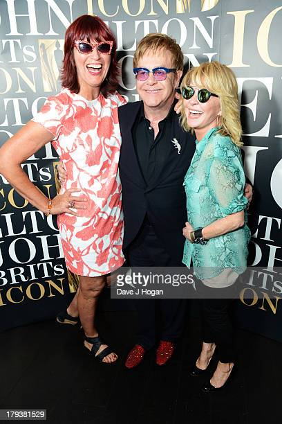 Janet Street Porter Elton John and Lulu attend the after party for Elton John's 'Brits Icon' concert at Aqua on September 2 2013 in London England