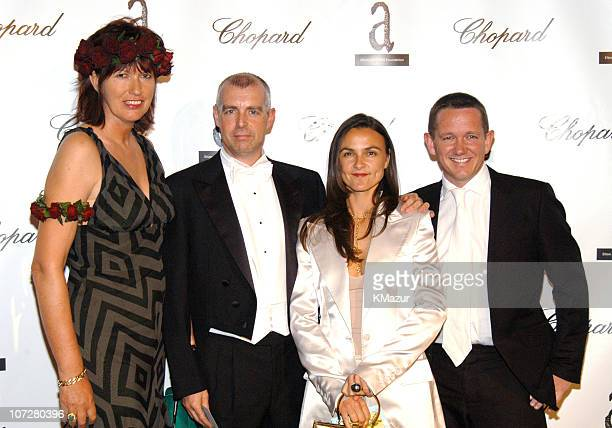 Janet Street Porter with Neil Tennent and Guests during The Fifth Annual White Tie Tiara Ball to Benefit the Elton John Aids Foundation in...