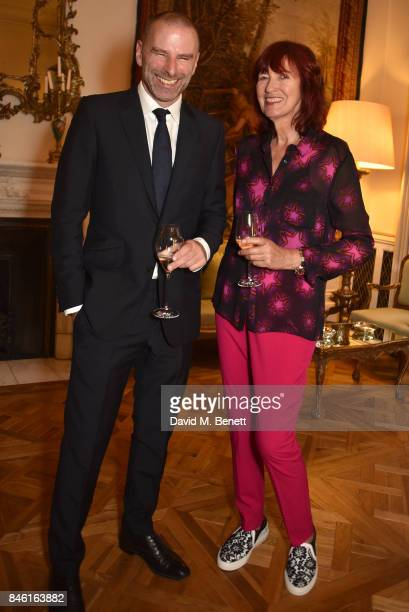 Janet StreetPorter and guest attend the launch of chef Giorgio Locatelli's new book Made At Home The Food I Cook For The People I Love at the Italian...