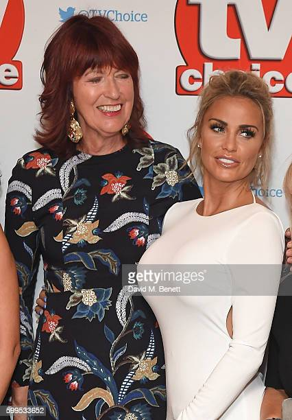 Janet StreetPorter and Katie Price arrive for the TVChoice Awards at The Dorchester on September 5 2016 in London England