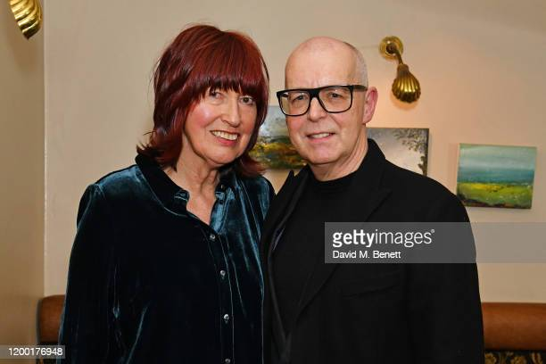 Janet StreetPorter and Neil Tennant attend the press night performance of MUSIK a new cabaret from Pet Shop Boys and Jonathan Harvey at Cafe Koha on...