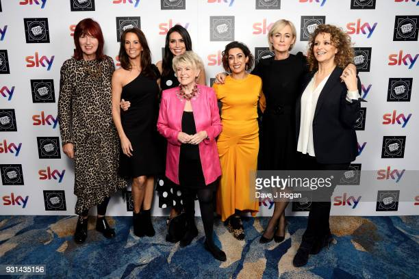 Janet StreetPorter Andrea McLean Christine Lampard Gloria Hunniford Saira Khan Jane Moore and Nadia Sawalha of Loose Women attend the TRIC Awards...