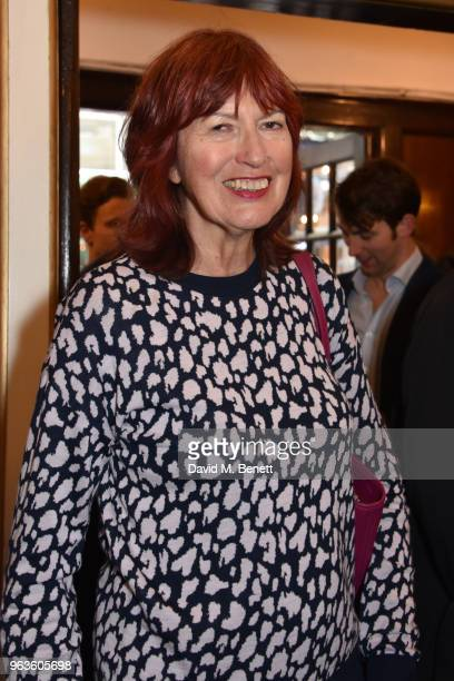 Janet StreetPorter arrives at the press night performance of Consent at the Harold Pinter Theatre on May 29 2018 in London England