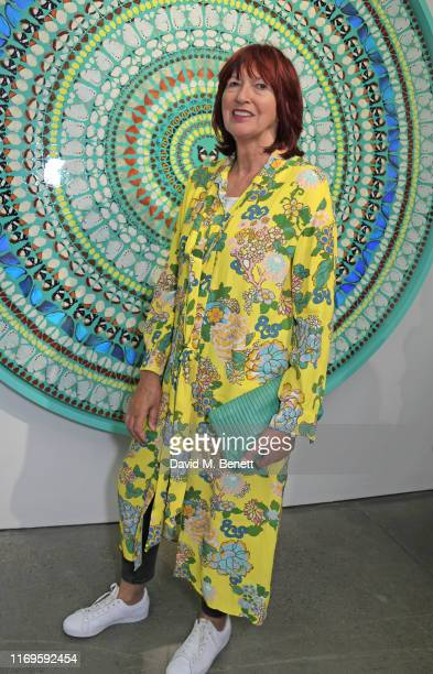 Janet StreetPorter attends a private view of Damien Hirst Mandalas at White Cube Gallery on September 19 2019 in London England