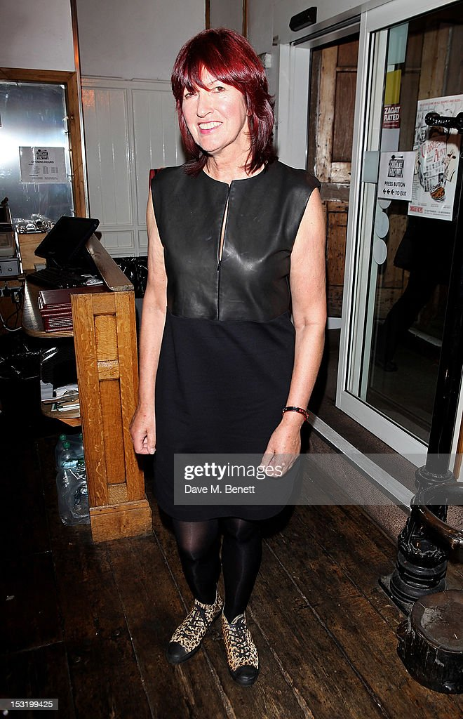 Janet Street-Porter attends an after party following the press night performance of 'Charley's Aunt' at Menier Chocolate Factory on October 1, 2012 in London, England.