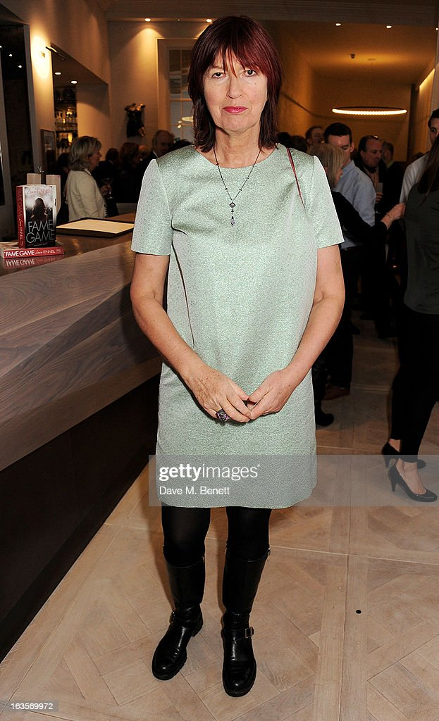 Janet Street-Porter attends the launch of Louise Fennell's new book 'Fame Game' at Grace Belgravia on March 12, 2013 in London, England.