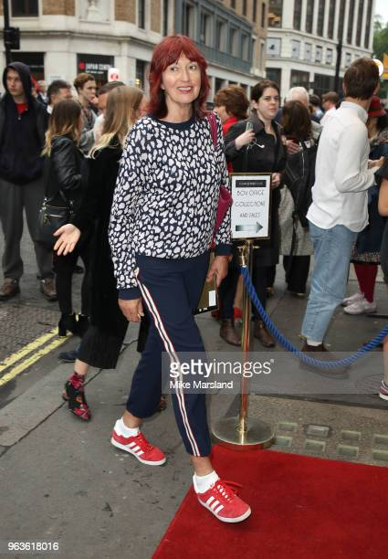 Janet StreetPorter attends the opening night of Nina Raine's 'Consent' at Harold Pinter Theatre on May 29 2018 in London England
