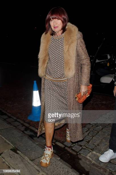 Janet StreetPorter seen attending the Evgeny Lebedev Christmas Party in North London on December 7 2018 in London England