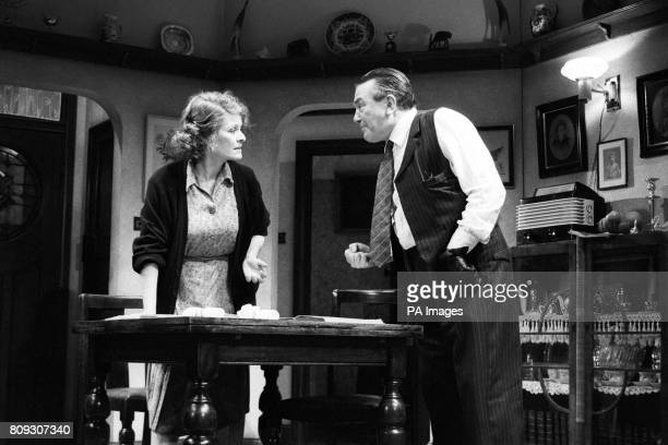 Janet Suzman and Albert Finney in a scene from 'Another Time' a new play by Ronald Harwood at Wyndham's Theatre London