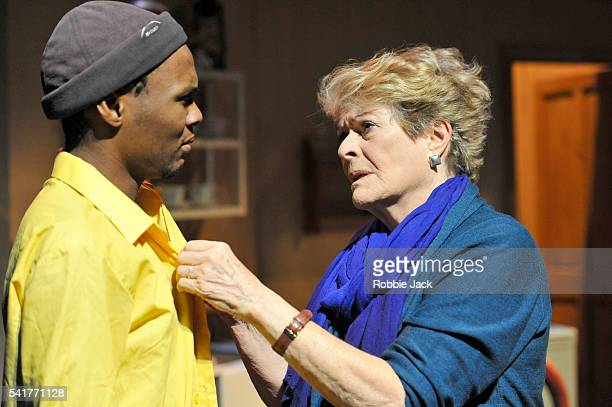Janet Suzman as Marion and Khayalethu Anthony as Solomon in Lara Foot's Solomon and Marion directed by Lara Foot at Assembly as part of the Edinburgh...