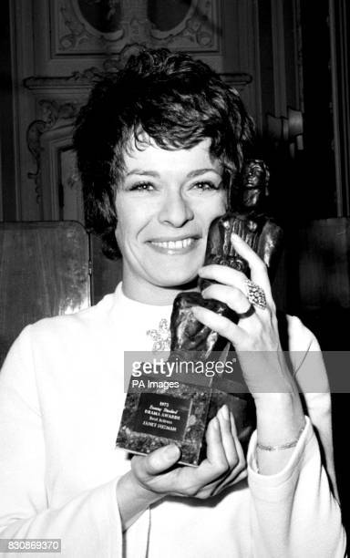 Janet Suzman with the 1973 Evening Standard best actress award one of the drama awards presented at a London hotel It had just been presented by...