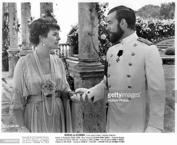 Janet Suzman's hand is held by Michael Jayston in a scene from the film 'Nicholas And Alexandra' 1971