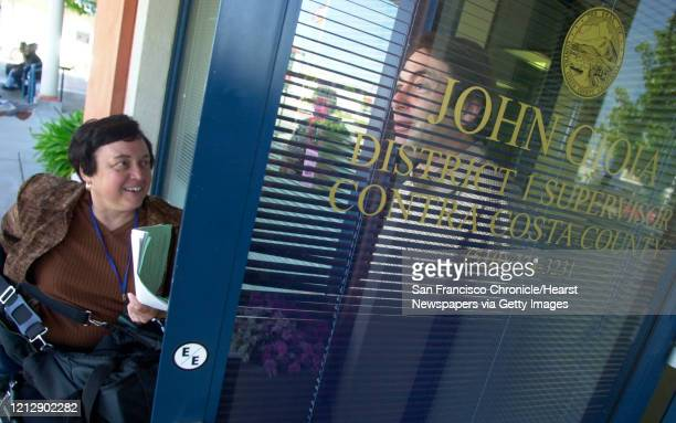 MC Janet visits Contra Costa County supervisor John Gioia at his office as one of her errands Commuter Chronicle Janet Abelson the mayor of El...