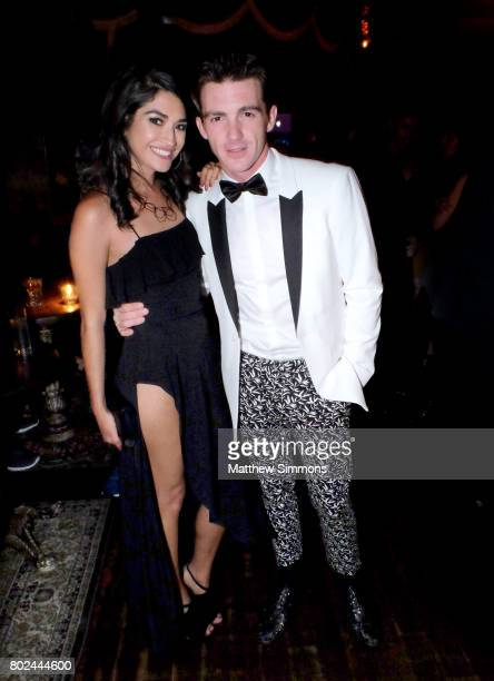 Janet Von and Drake Bell attend Drake Bell's birthday celebration at Black Rabbit Rose on June 27 2017 in Los Angeles California