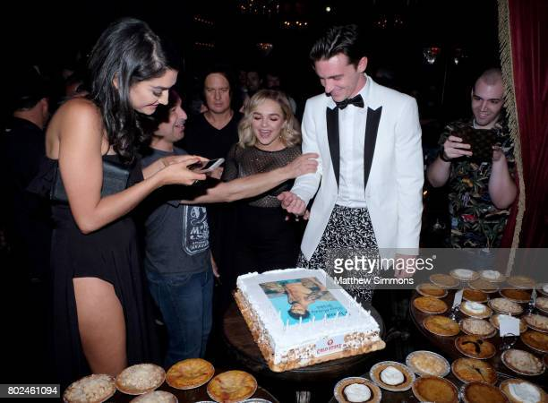 Janet Von Oana Gregory and Drake Bell attend Drake Bell's birthday celebration at Black Rabbit Rose on June 27 2017 in Los Angeles California