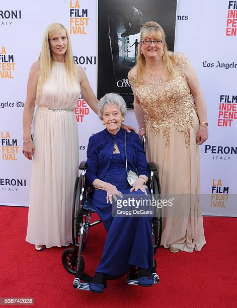 Janet Winter Lorraine Warren and Margaret Nadeen arrive at the 2016 Los Angeles Film Festival The Conjuring 2 Premiere at TCL Chinese Theatre IMAX on...