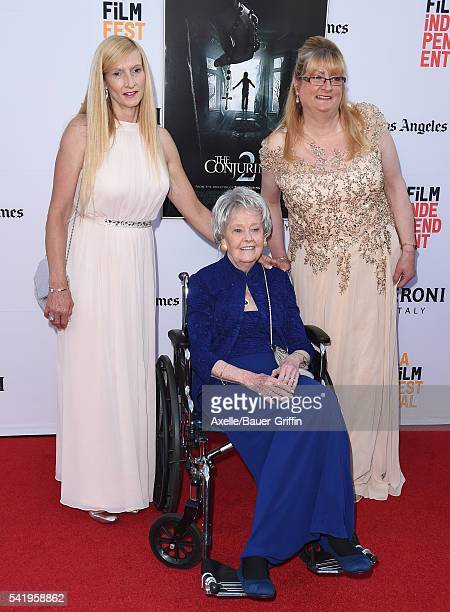 Janet Winter Lorraine Warren and Margaret Nadeen arrive at the 2016 Los Angeles Film Festival 'The Conjuring 2' Premiere at TCL Chinese Theatre IMAX...