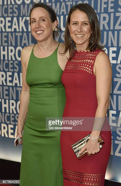 Janet Wojcicki and Anne Wojcicki attend the 5th Annual Breakthrough Prize Ceremony at NASA Ames Research Center on December 4 2016 in Mountain View...