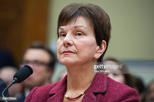 Janet Woodcock of the FDA appears before a House Oversight and Government Reform Committee hearing in Rayburn Building on 'methods and reasoning...