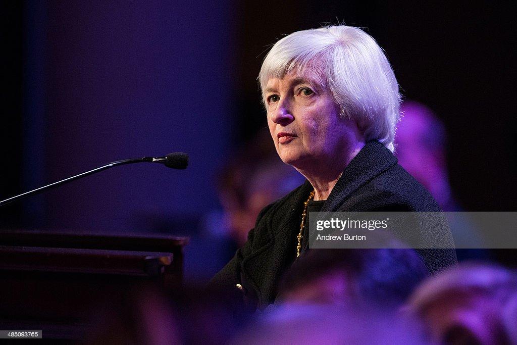Janet Yellen Addresses The Economic Club Of New York : News Photo