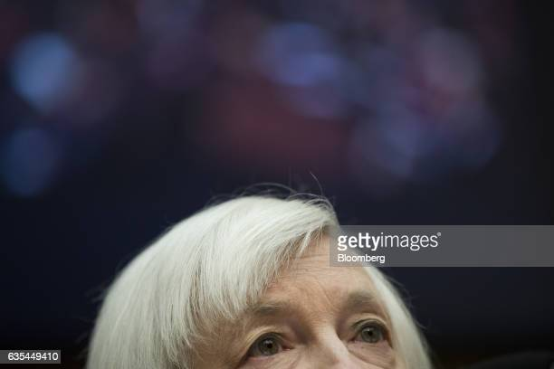 Janet Yellen chair of the US Federal Reserve attends a House Financial Services Committee hearing in Washington DC US on Wednesday Feb 15 2017...