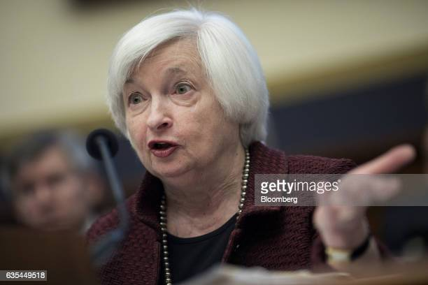 Janet Yellen chair of the US Federal Reserve speaks during a House Financial Services Committee hearing in Washington DC US on Wednesday Feb 15 2017...