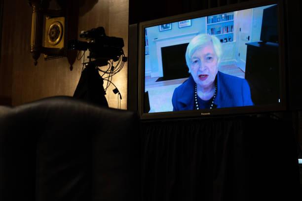 DC: Treasury Secretary Nominee Janet Yellen Testifies Before Senate Finance Committee