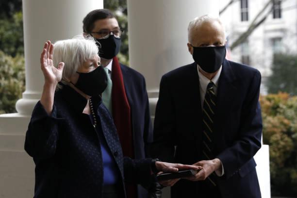 DC: Vice President Harris Swears InJanet YellenAs Treasury Secretary