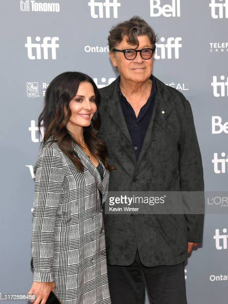 """Janet Zuccarini and Robbie Robertson attend the """"Once Were Brothers: Robbie Robertson and the Band"""" press conference during the 2019 Toronto..."""