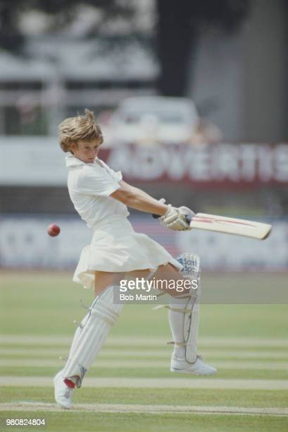 Janette Brittin of Surrey Women and England batting during the 3rd Test Match of the New Zealand Women's tour of England on 28 July 1984 at the St...