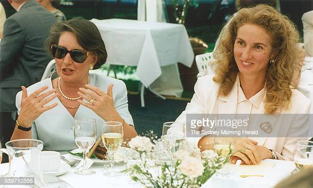 Janette Howard the wife of the Federal Opposition Leader John Howard and Prime Minister Paul Keating's wife Annita Keating find themselves on the...