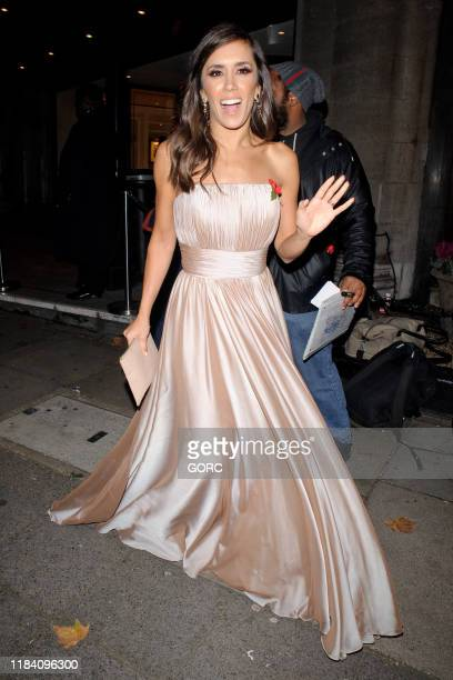 Janette Manara seen leaving the Pride of Britain Awards at the Grosvenor hotel in Mayfair on October 28 2019 in London England