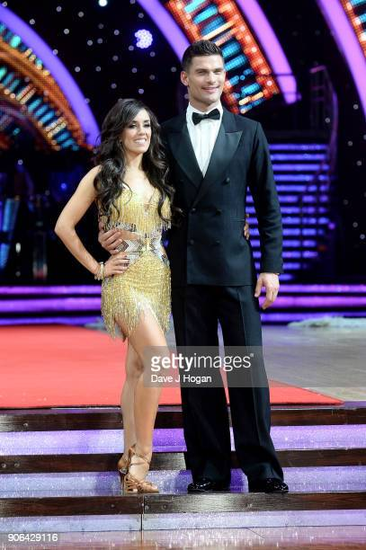 Janette Manrara and Alijaz Skorjanec attend the 'Strictly Come Dancing' Live photocall at Arena Birmingham on January 18 2018 in Birmingham England...