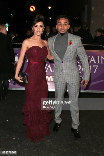 Janette Manrara and Aston Merrygold seen arriving at Pride of Britain Awards at Grosvenor House on October 30 2017 in London England