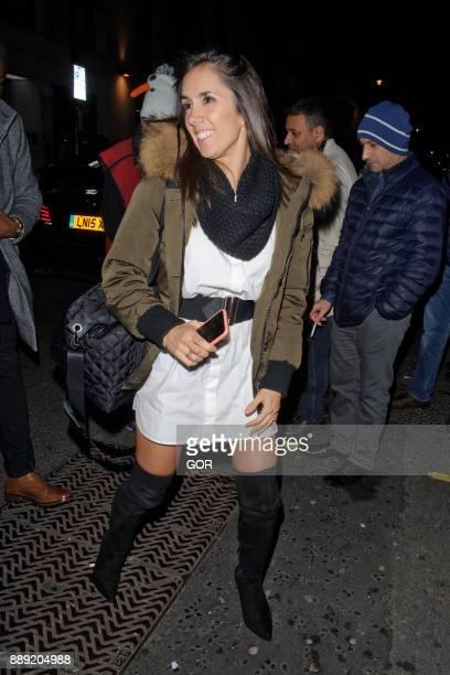 Janette Manrara arriving at Mahiki nightclub on December 9 2017 in London England