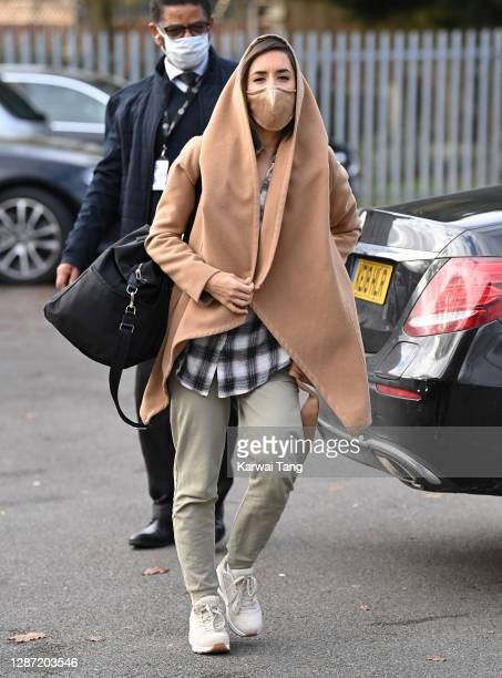 Janette Manrara from Strictly Come Dancing 2020 seen arriving at a rehearsal studio on November 23, 2020 in London, England.