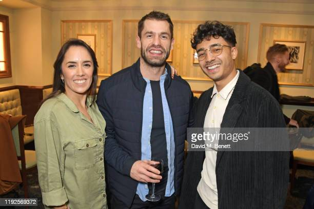 Janette Manrara Kelvin Fletcher and Karim Zeroual attend the VIP Gala Night for Curtains A Musical Whodunnit at Wyndham's Theatre on January 8 2020...