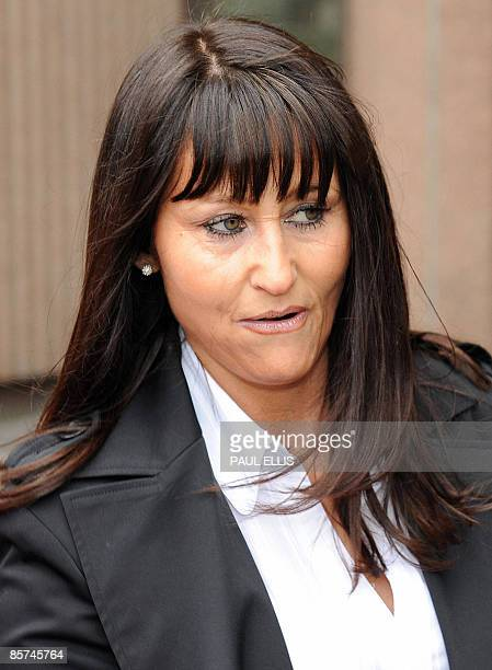 Janette Mercer arrives at Liverpool Crown Court in Liverpool northwest England on April 1 2009 Mercer the mother of Sean Mercer is sentenced after...